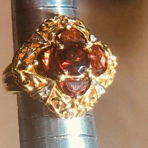 Victoria Wieck 5 stone Garnet Ring. Size 7